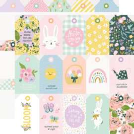 Bunnies + Blooms - Tags - Unit of 5
