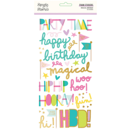 Magical Birthday  Foam Stickers - Unit of 3