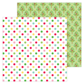 """Jolly Holiday 12x12"""" Double Sided 12x12""""  - Unit of 5"""