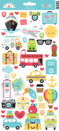 I ♥ Travel Icons Stickers - unit of 3