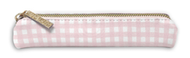 Slim Pencil Case Pink Check - Unit of 1