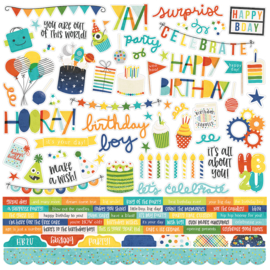 Birthday Blast Combo Stickers - unit of 3