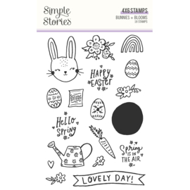 Bunnies + Blooms - Stamps - Unit of 2