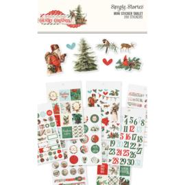 Country Christmas Mini Sticker Tablet  - Unit of 3