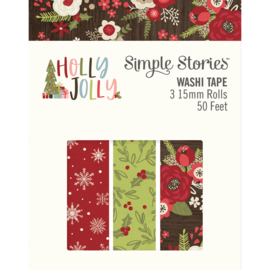 Holly Jolly Washi Tape - Unit of 3