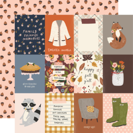 "Cozy Days Cozy Days -3x4 Elements Double Sided 12x12"" - Unit of 5"