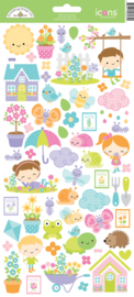 Simply Spring Icon Stickers - Unit of 3