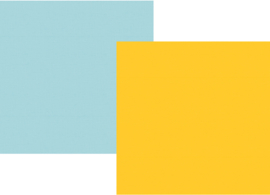 """Say Cheese 4 Yellow/Light Blue Double Sided 12x12"""" - Unit of 5"""
