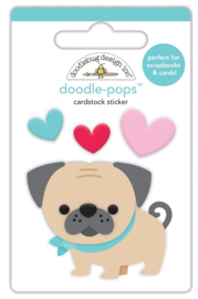 Love Pug Doodlepop     - Unit of 3