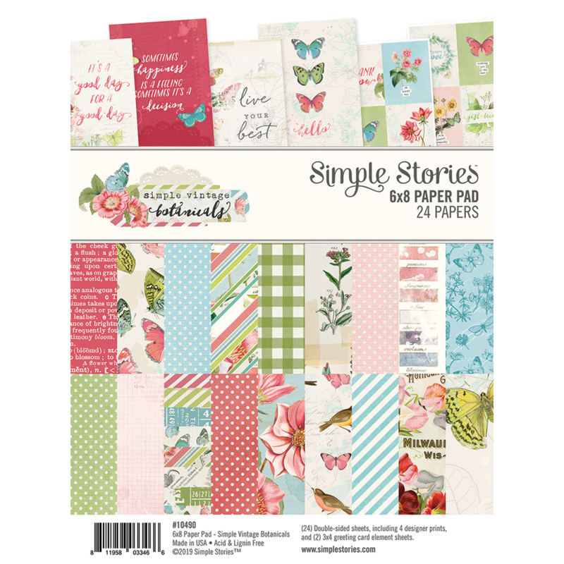Simple Vintage Botanicals Chipboard Stickers 6x12
