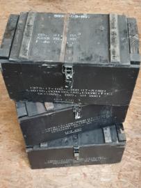 Houten zwarte kist
