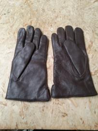 Leren NL legerhandschoenen bruin.