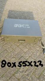 Veld / tentbureau bureau kist NL leger met lade 80x55x22 cm