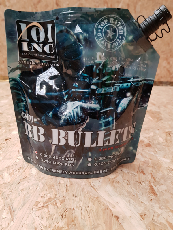 101 Inc BB bullets 6mm 0,28g