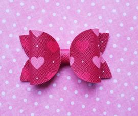 Basic haarstrik medium hartjes rood