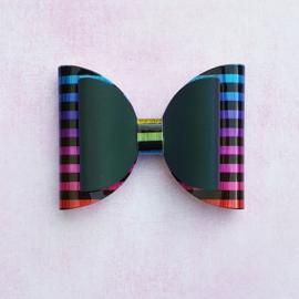 Reflecterende haarstrik 8cm rainbow 1st