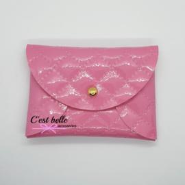 Pouchy clutch || tasje portemonneetje glanzend roze