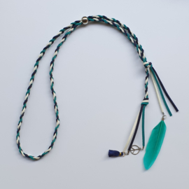 Ibiza haarband donkerblauw wit groen