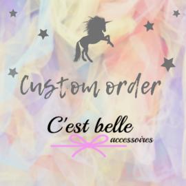 Custom order 5-4-2021