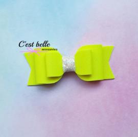 Basic haarstrik medium neon geel