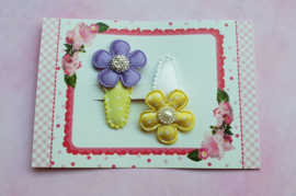 Setje babyhaarspeldjes 'purple & yellow'