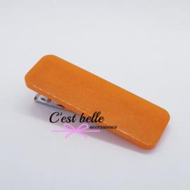 Resin/epoxy luxe haarclip oranje shimmer