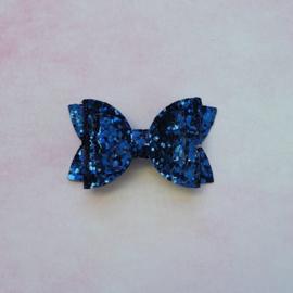 Basic haarstrik small donkerblauw
