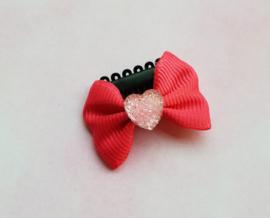 Anti slip haarclipje 'pink heart'