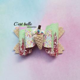 Luxe Enchanted haarstrik medium ijsje