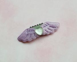 Anti slip haarclipje 'wings purple'