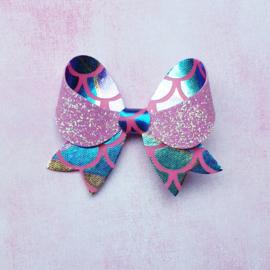 Fancy haarstrik 'pink mixed mermaid'