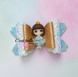 Luxe Enchanted haarstrik large ballerina prinses blauw
