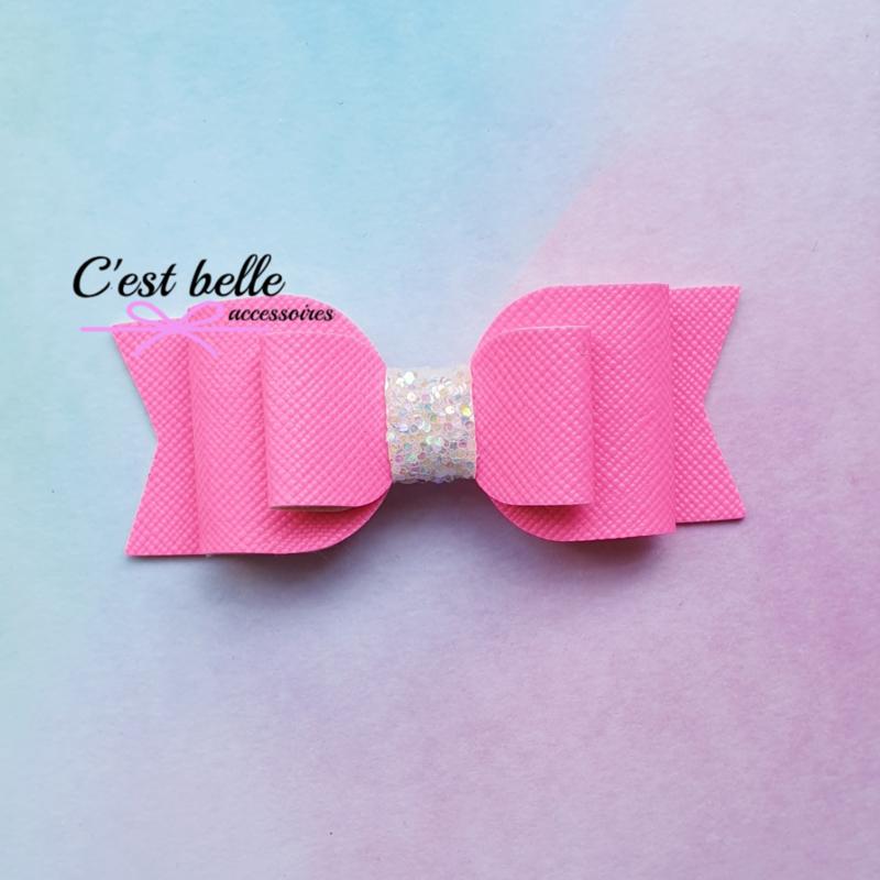 Basic haarstrik medium neon roze