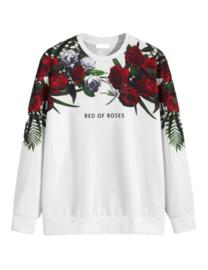 Wit Casual Bloemen Sweatshirts voor heren