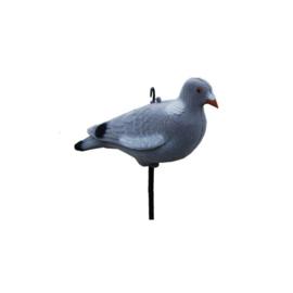 Lokvogel duif vol incl. pin 33cm geflockt