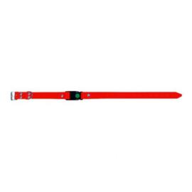 Halsband pvc versterkt met snelclip oranje