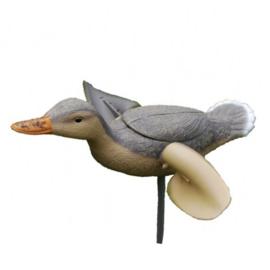Spinwing eend 53cm grijs/wit