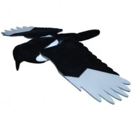 Lokvogel Ekster geflockt met EVA vleugels