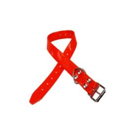 Halsband PU oranje