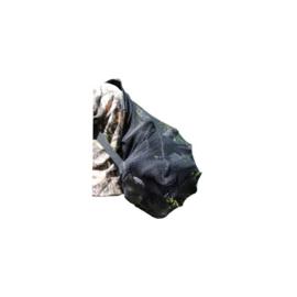 Lokvogel rugzak zwart grofmazig 50x70cm