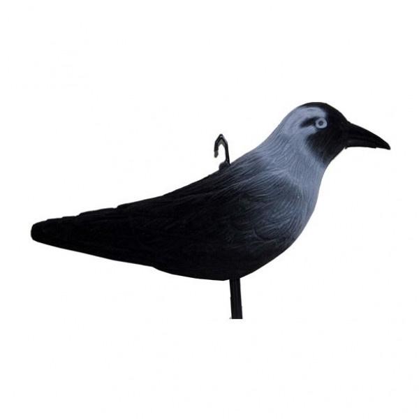 Lokvogel Kauw geflockt 32cm 5stuks