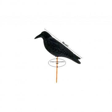 Lokvogel magnum waggle crow geflockt 50cm + rotatie systeem