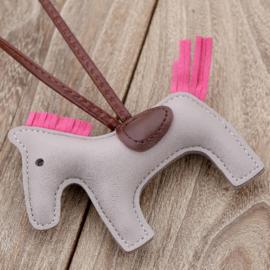 Lederen sleutelhanger paard