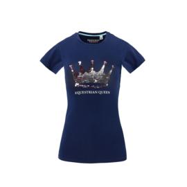 Equestrian Queen - T-shirt 'Sandra' navy