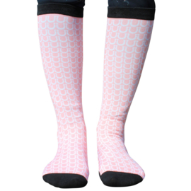 Two White Socks - Pale Pink Shoe