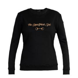 Horsegloss - Sweater 'Equestrian Club' Zwart
