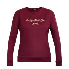 Horsegloss - Sweater 'Equestrian Club' Burgundy