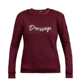 Horsegloss - Sweater 'Dressage' Burgundy