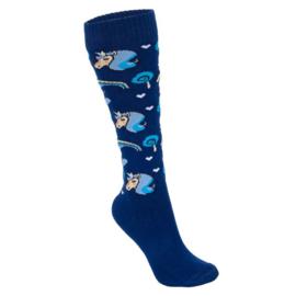 Start Riding - Sokken 'Lovely Unicorn' blauw