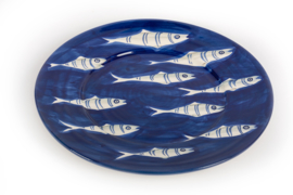 Blauw bord met visjes Capri